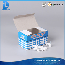 High Quality White Color Round Cable Clips
