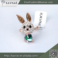 Wholesale Innovative Design Rose Gold Plated Animal Shaped Rings R2379