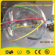 New style commercial grade durable toy water filled balls with glitter