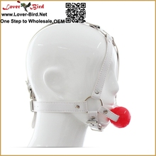 Sex toy adul tfor couples sex Products silicon and real leather dog bone mouth ball ga g