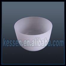Frosted Quartz crucibles for melting silicon/gold/platinum/titanium
