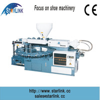 Wenzhou STARLINK Best Performance PVC TPR single color rotary tpr leisure shoe sole injection molding machine