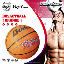 size 7 full orange basketball with customized logo design
