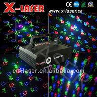 Red & Green & Blue (RGB) Animation Fireworks Laser Light with eight Holiday-celebration Patterns for Christmas