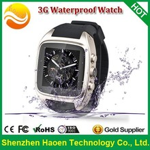 Factory Cheapest 3G Android Smart Watch Phone, Waterproof Phone watch Android 4.4 1G Ram 8G Rom 5M Camera Dual core Hand Watch