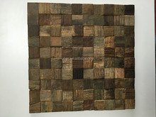 Interior 3d Industrial reclaimed wood furiture wall panels