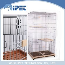 Ipet China functional solid display wire mesh pet cage for cats