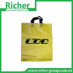 fast delivery machine made reinceful soft loop handle bag with side gusset