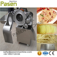 Industrial jengibre chips de limpieza peeling y corte de la máquina