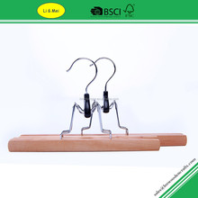 LM2521 Multi Function Natural Wooden Pant and Skirt Hangers