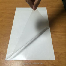 self-adhesive removable plastic film for label printing