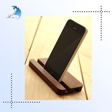 hot sale reuasable promotional gift branded wooden cellphone holder