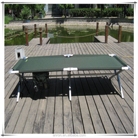 portable metal folding camp bed for single (factory manufacturer) Folding Beach Bed, metal folding bed
