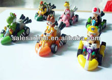 Wholesale Super Mario Bros Figure Mario car a set of 6