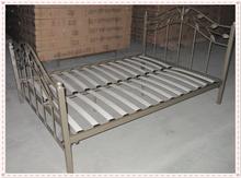 Modern bedroom furniture double size metal bed double queen size design antique home platform metal bed