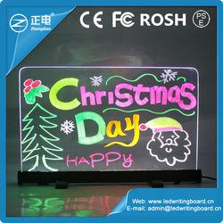 Aluminium alloy writable neon flashing led writing board