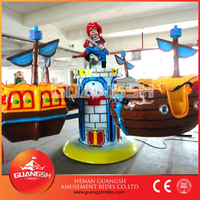 Guangsh designed ! indoor amusement rides happy children swing rotating pirate ship