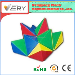 Playing together magnetic construction building 3d Puzzle