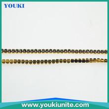 metal gold color 3mm diamond chain