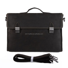 Drop Shipping 10 Pieces MOQ OEM Logo Real Leather Portfolio For Men 7155R