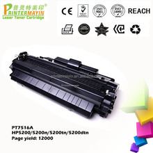 Compatible HP Q7516a Toner Cartridges Alibaba Toner Cartridge Supplier FOR USE IN HP 5200/5200n/5200tn/5200dtn (PT7516A)