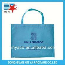 De alta calidad de cordones de diseño de un color no- tejido de la bolsa de pan para ir de compras