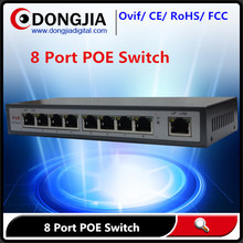 DONGJIA factory ptice network 8 port 8ch poe switch