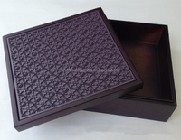 Accept Custom Order and Embossing,Stamping,UV Coating,Varnishing Printing Handling wooden box removable lid