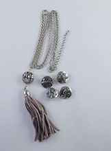Custom made jewelry changeable snap buttons necklace sea star and tree buttons