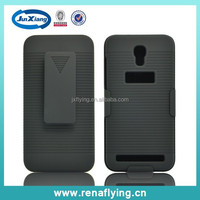 with stripe pattern shell rubberized pc holster combo case for Alcatel OT 6036