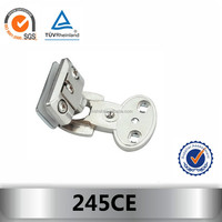 heavy duty hinge with 180 stop for glass door cabinet 245CE