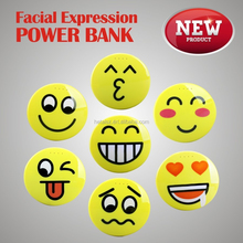 Cute Facial expression power bank 8000mAh external battery charger, face shape power bank for samsung