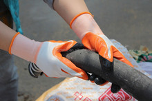 Thicker Nylon Glove with Nitrile Coated, anti Slip, Nylon Nitrile Coated Gloves