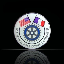 Enraved Single Colored Silver Coin for Custom Made