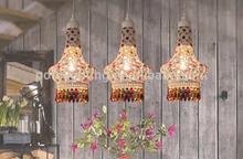superior calidad de hierro fundido con lámpara de araña de cristal de cuentas para comedor sala de nuevo producto