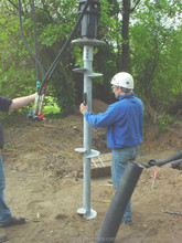underground screw pipe post For fence