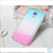 Shining Rainbow color tpu hard pc back case cover for Samsung galaxy Note4