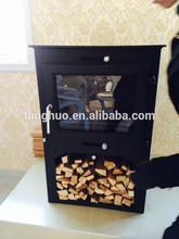 acero madera estufa de leña estufa