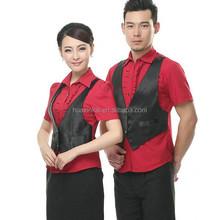 Made in China Custom KTV Short sleeve cool nightclub bartender uniforms