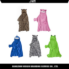 100% Polyester Promotional Fleece Baby Hooded Blanket