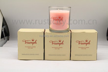 Home decoration handmade soy wax candle,good selling craft