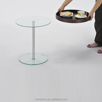 Glass side table for living room