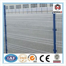 Green curvy welded fence with ISO certification(13 years factory)