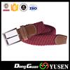 High Quality Solid Color Mens Custom Elastic Belts