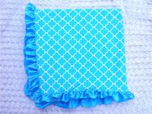 Baby Blanket 100% Cotton Knitted Crochet Edge Baby Blanket baby afghan blanket