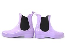 Casual dress jelly boots women ankle rubber rain boots equestrian booties