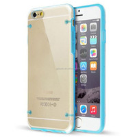 Colourful Frame PC material Transparent Phone Case Cover for iPhone6,for samsung galaxy s4 mini