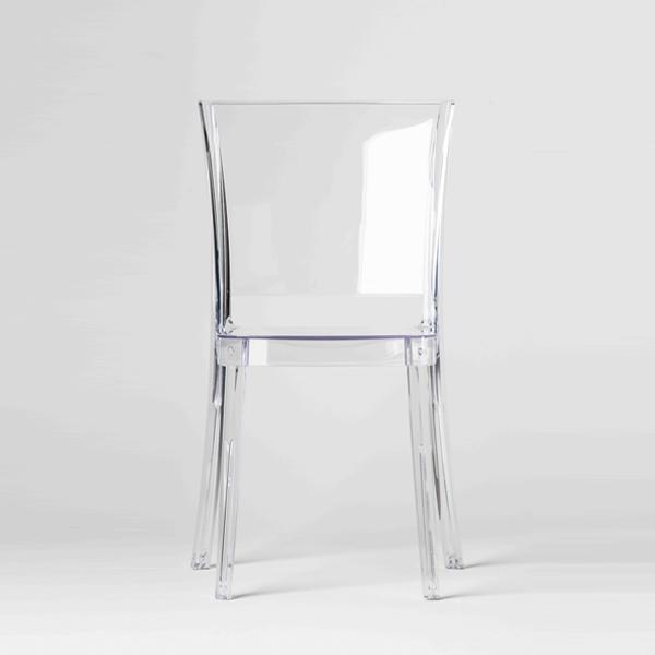 Chaise transparente en polycarbonate lucienne neutre - Chaise polycarbonate transparente ...
