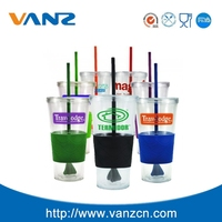 Reusable coffee cup, Starbucks Cup, Double Wall Drinking Plastic Cup With Straw And Lid