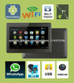 """Tablet Android 4 pantalla 7"""" capacitiva multitouch 512Mb+4Gb CPU ARM Cortex A8 1,2Ghz Wifi ¡sólo 8 mm! Allwinner A13 Webcam XVID"""